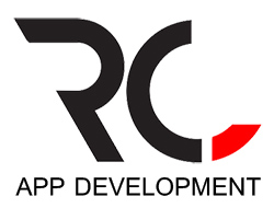 RC Logo.  Letter Design Vector with Red and Black Colors.